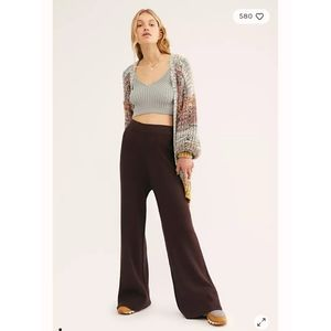 Free People FP Beach Knit Night In High Rise Pants